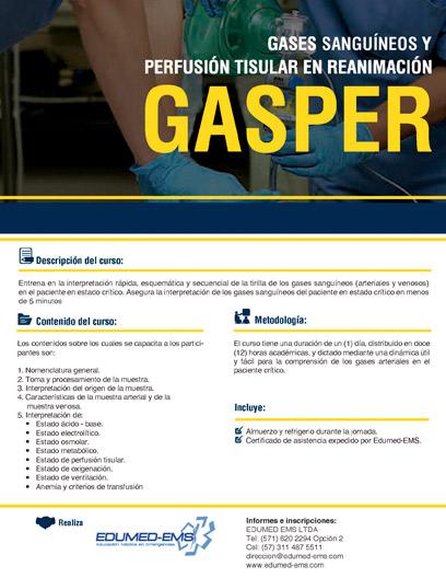 Edumed-EMS - Gases Sanguíneos y Perfusión Tisular en Reanimación - GASPER